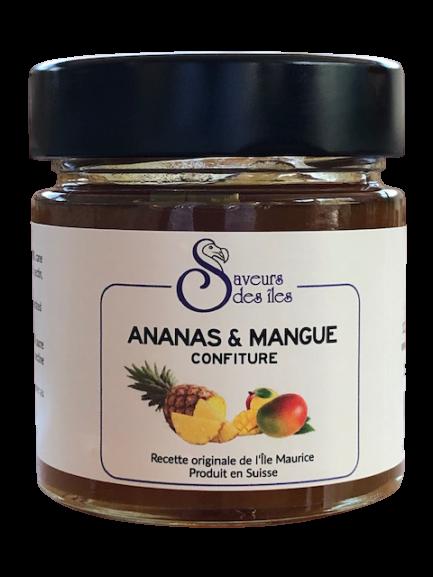 Confiture maison à l'ananas & mangue - 250 gr