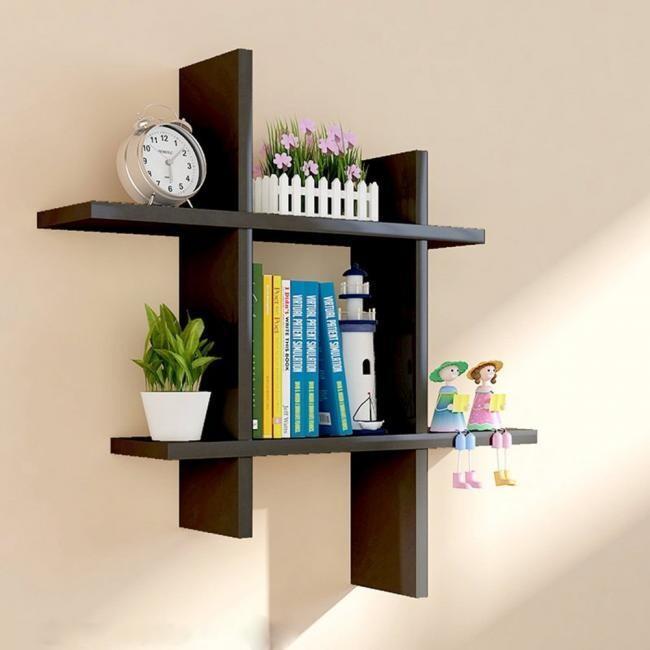 Wall Decor Shelf - Black