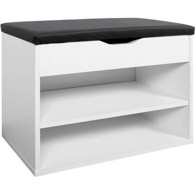 Shoes Storage with seat & shelf - White