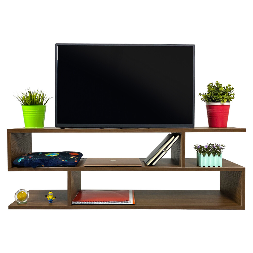 TV Table S shape brown