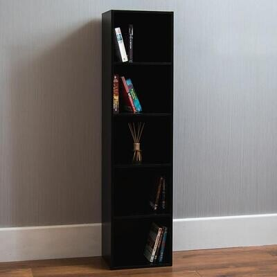 Books and accessories unit with shelves - Black