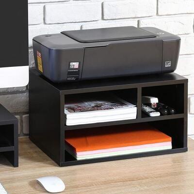 Printer Stand & Storage - Black