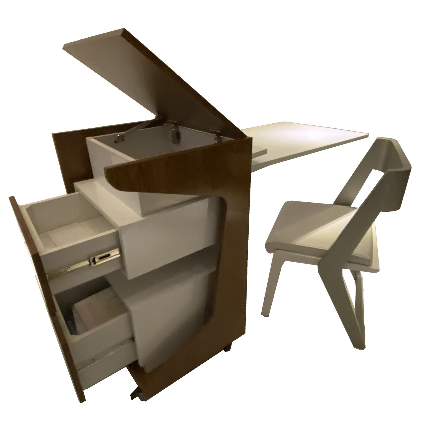 3 in 1 Smart Desk with Drawer and Chair