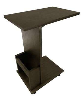 Movable Side table Brown on wheels