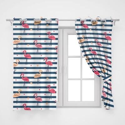 Home2go Flamingo Single Curtain - 145*260 cm