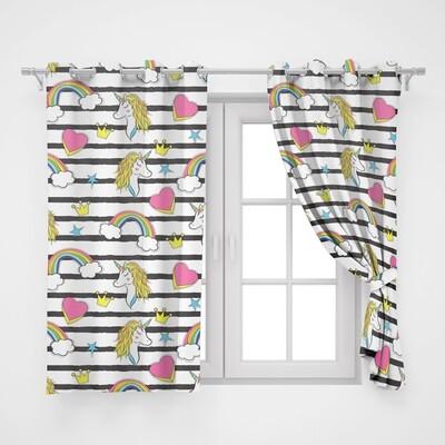Home2go Kids Unicorn Single Curtain - 145*260 cm