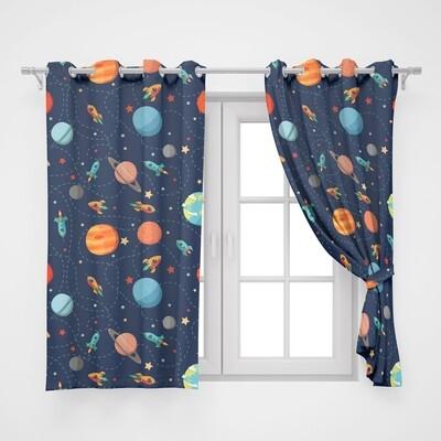 Home2go kids Space Single Curtain - 145*260 cm