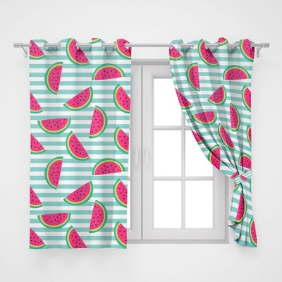 Home2go Watermelon Double Curtain - 290*260 cm