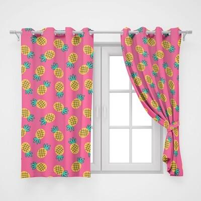 Home2go Pineapple Double Curtain - 290*260 cm
