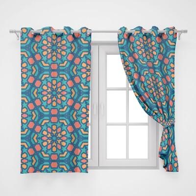 Home2go Ramadan Double Curtain - 290*260 cm
