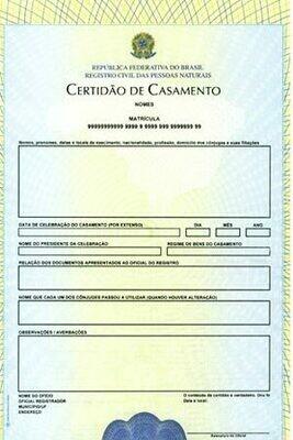 Acte de Mariage Brésil