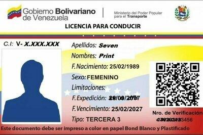 Permis de Conduire Venezuela