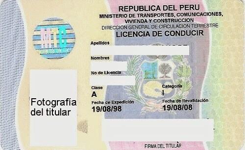 Permis de Conduire Pérou