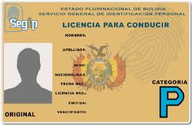 Permis de Conduire Bolivie