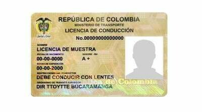 Permis de Conduire Colombie