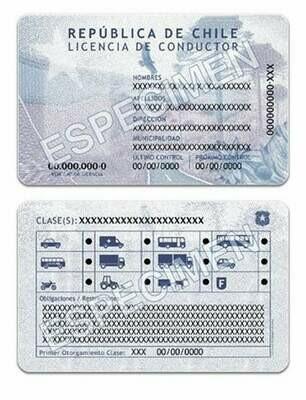 Permis de conduire - Chili