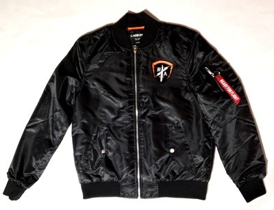 Tear The House Down Satin Flight Jacket