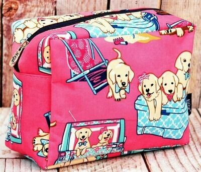 Cosmetic Case: Playful Puppies