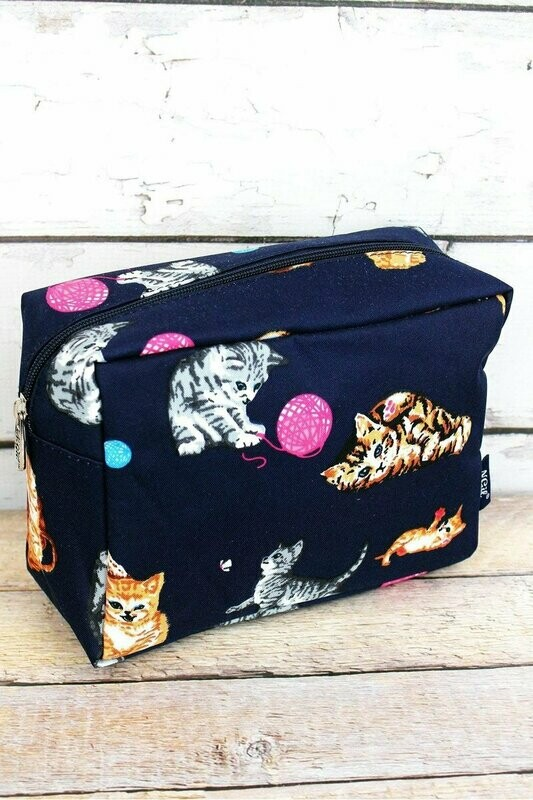 Cosmetic Case: Playful Kittens