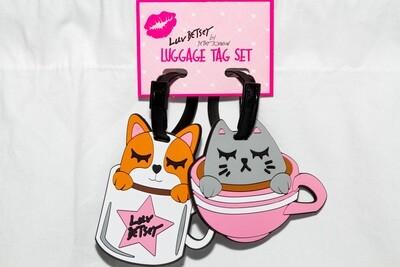 Dog & Cat Designer Luggage Tag Set
