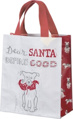 Eco-Friendly Christmas Tote: Dear Santa, Define Good