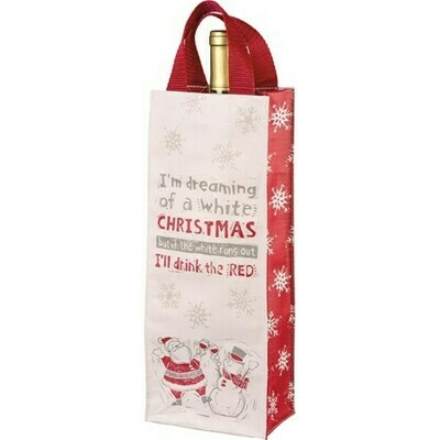 Christmas Wine Bottle Tote: I'll Drink The Red