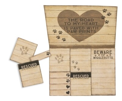 Sticky Notes Set - Paw Prints on My Heart