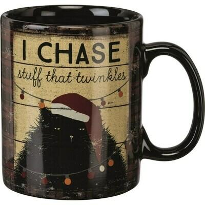 Christmas Cat Ceramic Large Mug