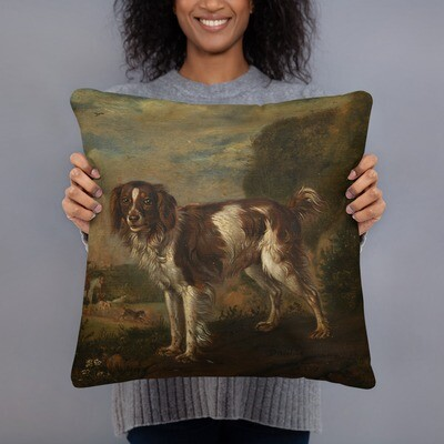 Museum Art Pillow: Hunting Spaniel