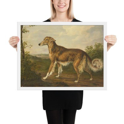 Framed Museum Art Poster: Siberian Greyhound