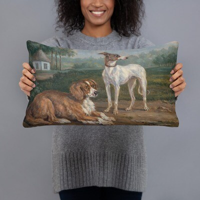 Museum Art Pillow: Two Dogs