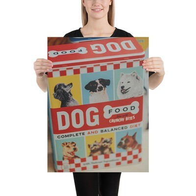 Poster: Retro Dog Biscuit Tin