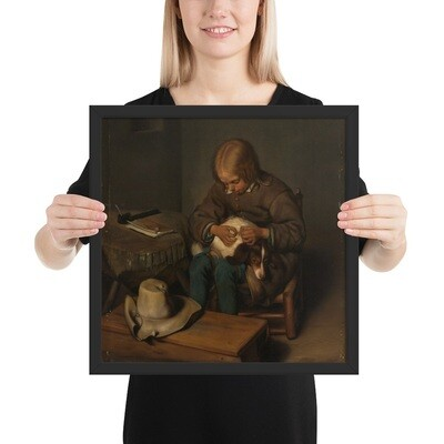 Framed Museum Art Poster: Boy and his Dog