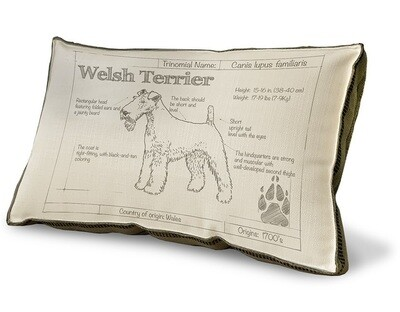 Custom 'Dog Breed' Blueprint Pillow - Many breeds available!