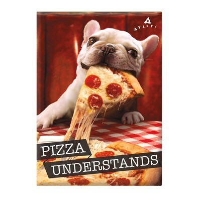 Funny Dog Magnet: Pizza Understands