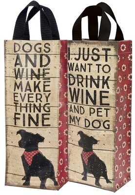 Wine Bottle Reversible Tote