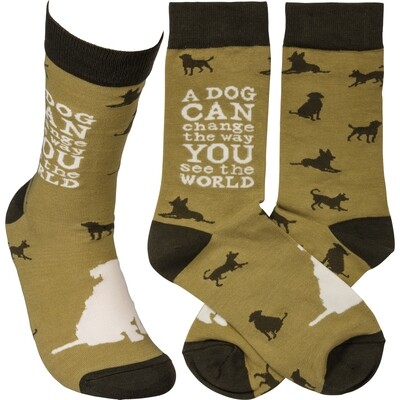Unisex Socks: Dogs Change Way You See The World