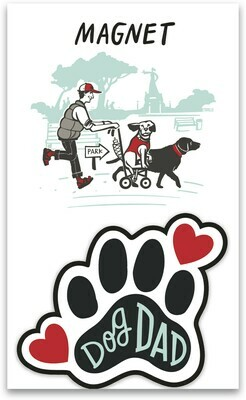 Dog Dad Magnet with Gift Tag