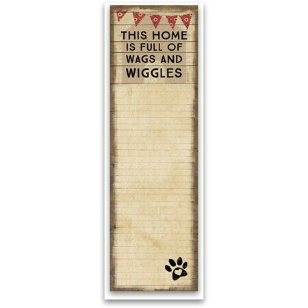 Rustic Magnetic Notepads (2 dog quotes!)
