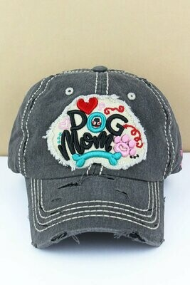 'Dog Mom' Cursive-Style Baseball Cap