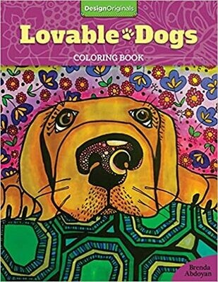 Coloring Book: 'Lovable Dogs'
