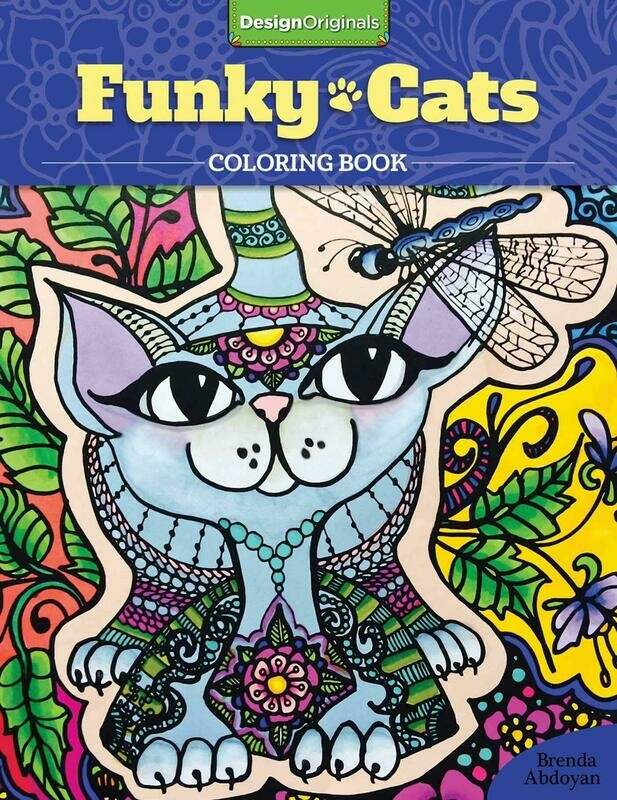 Coloring Book: 'Funky Cats'
