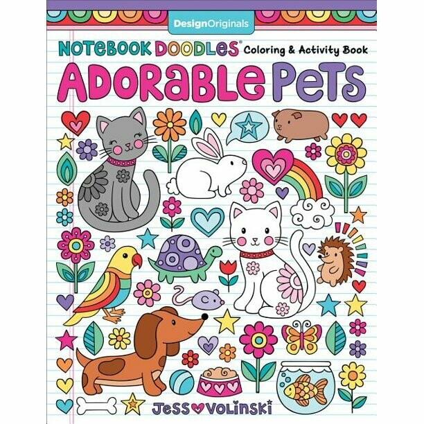 Activity & Coloring Book: 'Adorable Pets'