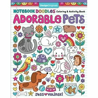 Activity & Coloring Book: 'Adorable Pets'