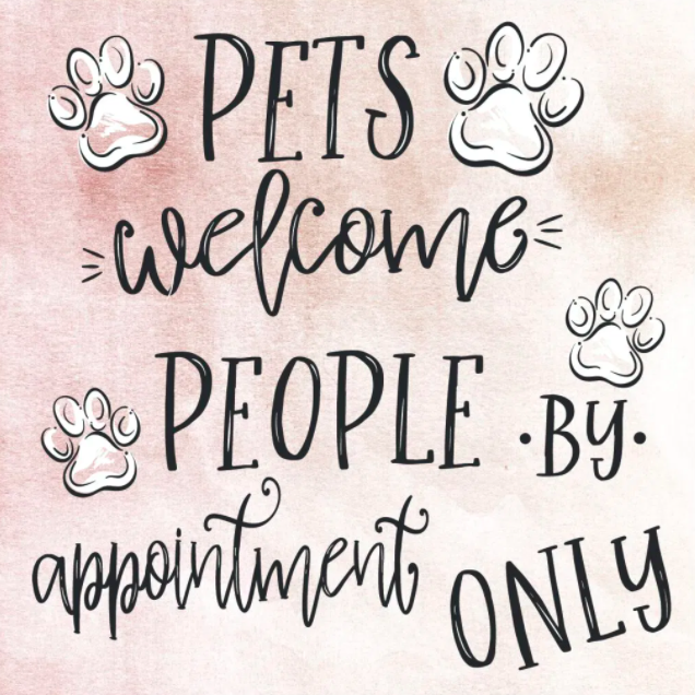 Simply Southern Coaster w/Easel: 'Pets Welcome, People by Appointment'