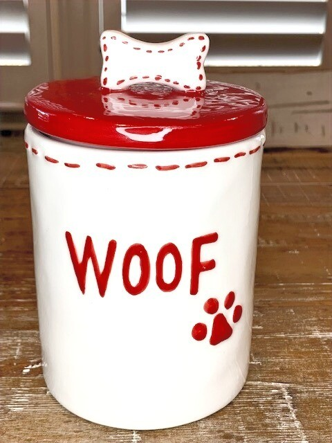 Ceramic Cookie & Dog Treats Jar