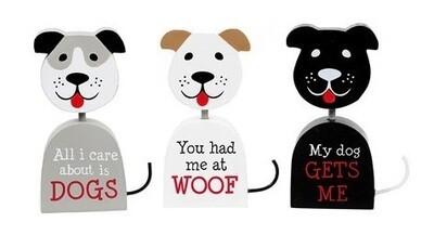 Tabletop Dog-Shaped Wood Cutouts (3 sayings!)