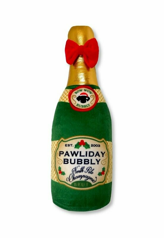 Pawliday Bubbly Champagne Squeaker Toy