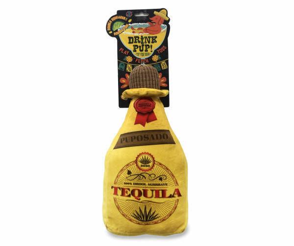 Tequila Bottle Squeaker Dog Toy