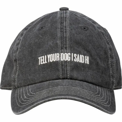 Embroidered Baseball Cap: 'Tell your dog I said Hi'